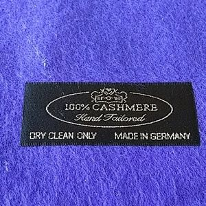 Made in Germany Accessories - Cashmere purple scarf made in Germany